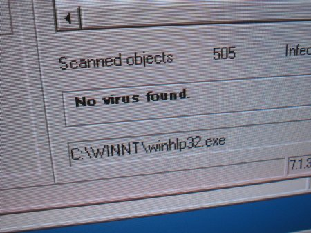 NO VIRUS FOUND